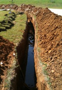 Drainage Ditch for Foundation Repair