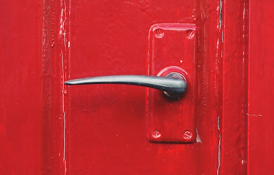 red-door-handle
