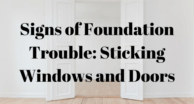 signs of foundation trouble