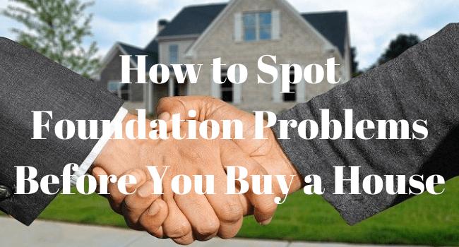spotting foundation problems
