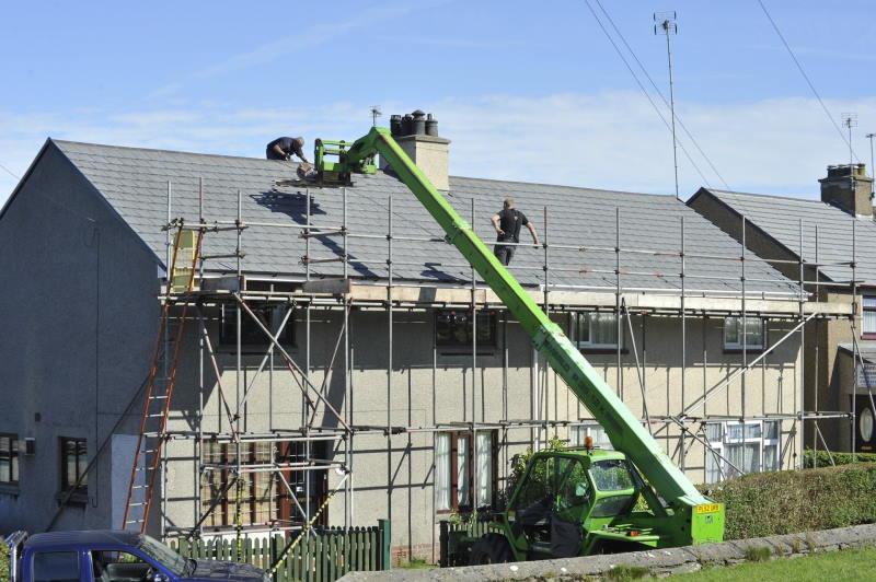 repairing leaning chimney