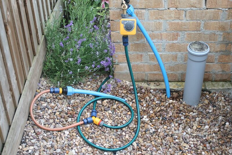 soaker hose foundation watering